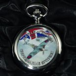 Spitfire Battle of Britain Pocket Watch Personalised Engraved ref PWBB